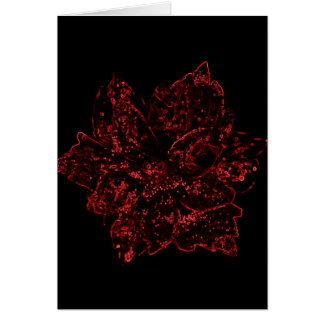 Red and Black Flower Design by Admiro Card