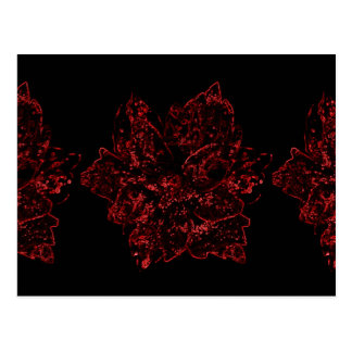Red and Black Flower Design by Admiro Postcard