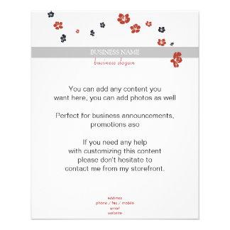 Red and Black Flowers on White Elegant Flyer