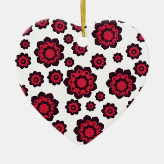 Red and Black Flowers Ornament