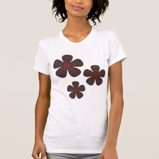 red and black flowers t-shirt