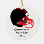 Red and Black Football Ornament