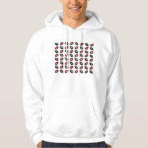 Red and Black Footballs Pattern Hoodie