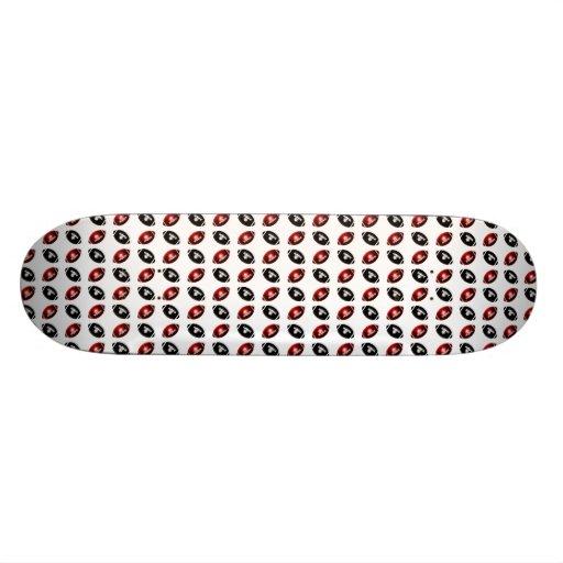 Red and Black Footballs Pattern Skateboard Decks