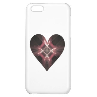 Red and Black Fractal Art Heart iPhone 5C Case