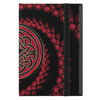Red and Black Fractal with Celtic Knot Cover For iPad Mini