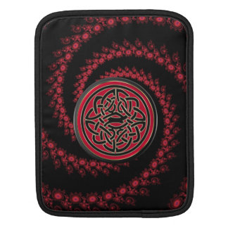 Red and Black Fractal with Celtic Knot Sleeves For iPads