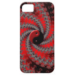 Red and Black Fractal Yin-Yang iPhone Case iPhone 5 Cases