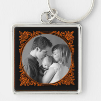 Red and Black Frame Keychain