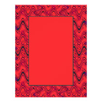 Red and Black Geometric Wave Pattern Flyer