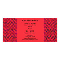 Red and Black Geometric Wave Pattern Rack Card