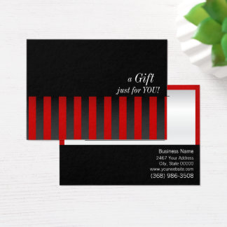 Red and Black Gift Certificate
