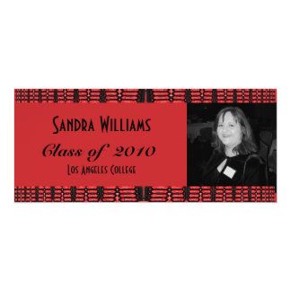 red and black graduation card