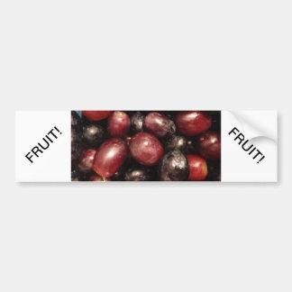 Red and Black Grapes Car Bumper Sticker