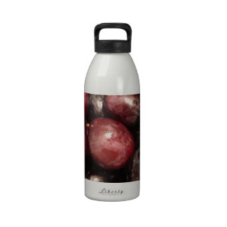 Red and Black Grapes Drinking Bottle