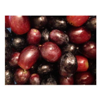 Red and Black Grapes Postcard