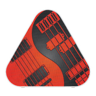 Red and Black Guitar and Bass Yin Yang Bluetooth Speaker