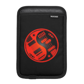 Red and Black Guitar and Bass Yin Yang Sleeve For iPad Mini