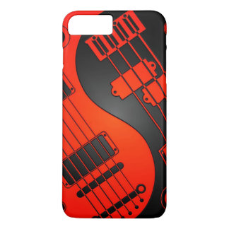 Red and Black Guitar and Bass Yin Yang iPhone 7 Plus Case