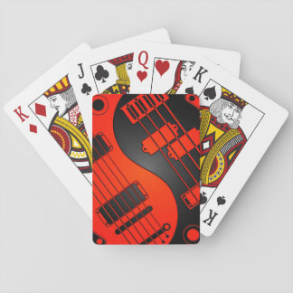 Red and Black Guitar and Bass Yin Yang Card Decks