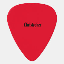 Red and Black Guitar Pick