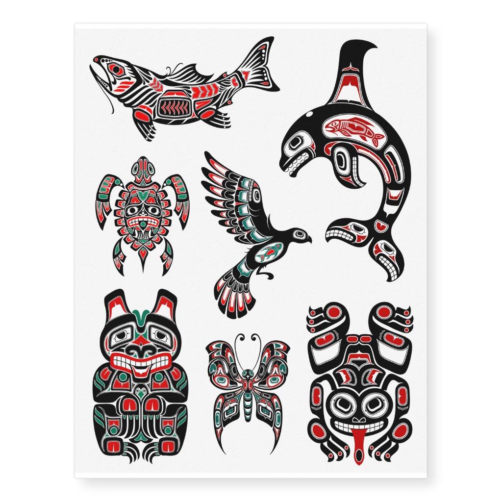 Black Haida Native Animal  Haida Animal Tattoos