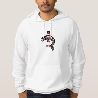 Red and Black Haida Spirit Killer Whale Hoodie