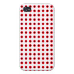 Red and Black Halftone Dot Pattern Iphone Case iPhone 4 Case