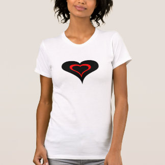 Red and Black Heart T-shirts