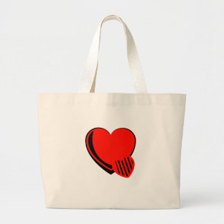 Red and Black Hearts Canvas Bag