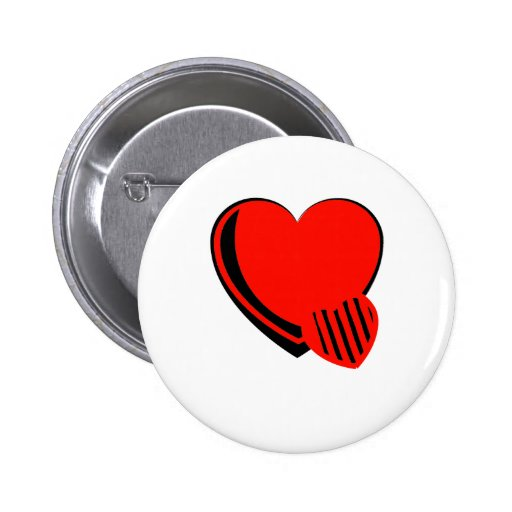Red and Black Hearts Button