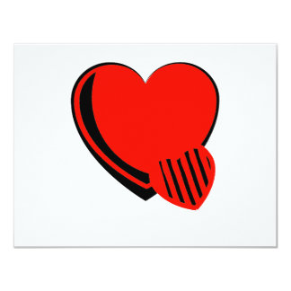 Red and Black Hearts Card