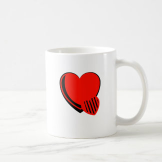 Red and Black Hearts Classic White Coffee Mug