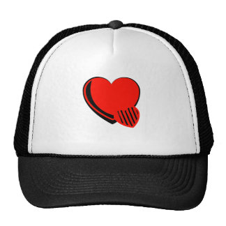 Red and Black Hearts Trucker Hat