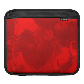 RED AND BLACK HEARTS IPAD SLEEVE