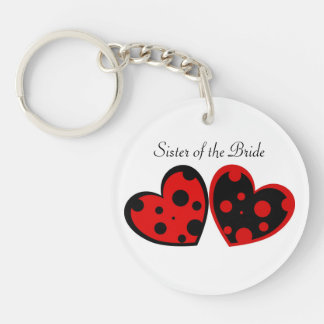 Red And Black Hearts Keychain