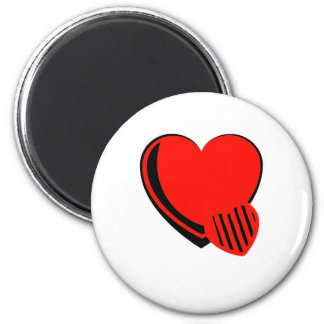 Red and Black Hearts Magnets