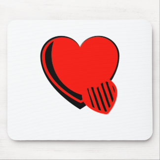 Red and Black Hearts Mouse Pad