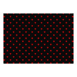 Red and Black Hearts. Pattern. Personalized Invitation