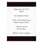 Red and Black Hearts. Pattern. Invite
