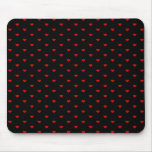 Red and Black Hearts. Pattern. Mouse Pads