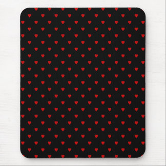 Red and Black Hearts Pattern Mouse Pads