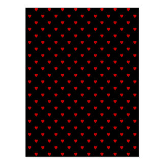 Red and Black Hearts. Pattern. Postcard