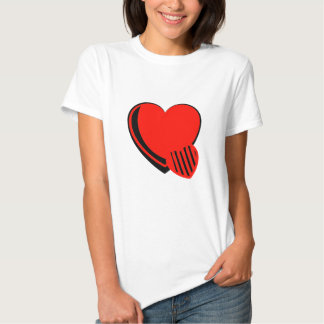 Red and Black Hearts T-shirt