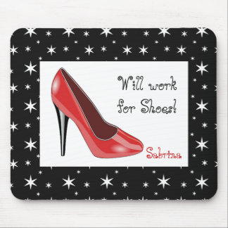 Red and Black High Heel Mouse Pad