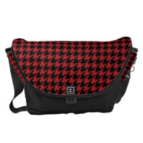 Red and Black Houndstooth Messenger Bag