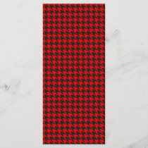 Red And Black Houndstooth Pattern