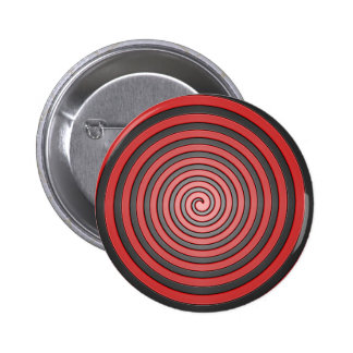 Red and Black Hypnotic Spiral Pin