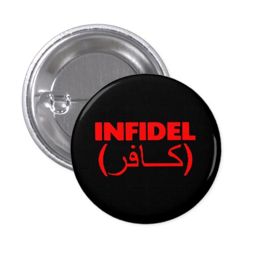 Red and Black Infidel Button