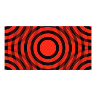 red_and_black_interlocking_concentric_circles tarjeta personal
